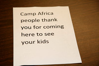 Camp Africa Closing Program 7/25/2013