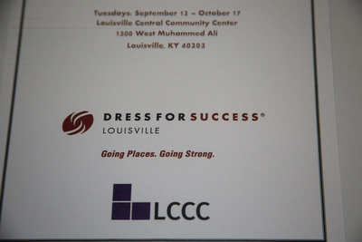 LCCC & Dress for Success (Track for Success) program photographs